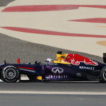 Red Bull Formula One driver Vettel of Germany drives during the Bahrain F1 Grand Prix